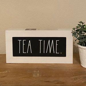 Rae DUNN TEA TIME sign